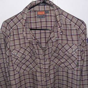 "NWOT Merell ""Opti-Wick"" Flannel button up"